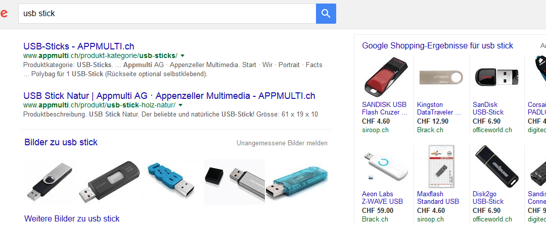 Google Shopping Inserate