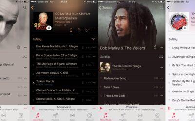 Songtitel auf Smartphone sichtbar